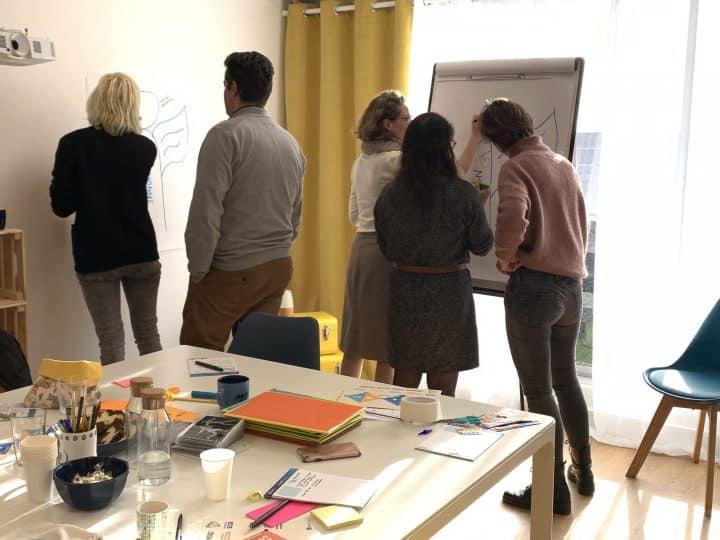 Focus Group avec activité dans les locaux d'Emy Digital à Bordeaux